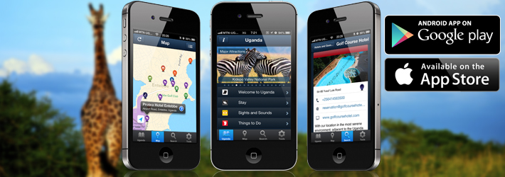 <h3>Uganda Guide App</h3><p>Uganda's first destination Mobile App available for Apple and Android</p>