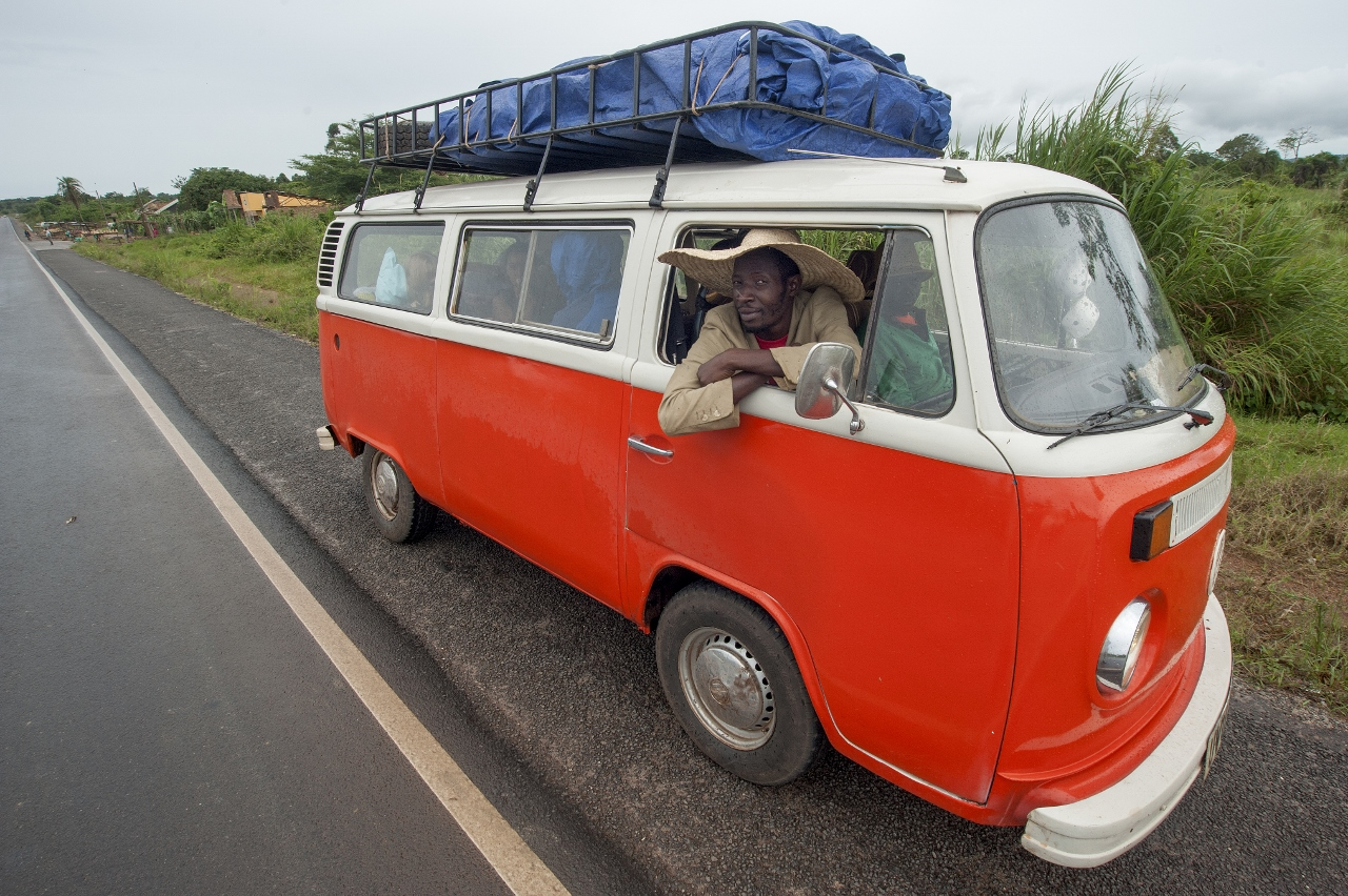 Beatrice the Orange Kombi Camper Van Uganda